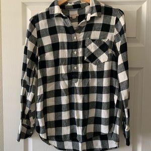Women's Merona plaid flannel shirt